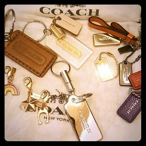 Coach quick release METAL Tag Key Ring -SILVER